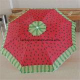 Premier parapluie de plage résistant de vente de polyester de parasol de vent