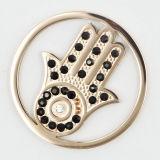 Plaque chaude de pièce de monnaie de main d'acier inoxydable de vente ajustée pour le pendant de Locket