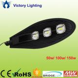 Nuova illuminazione stradale eccellente della PANNOCCHIA LED di alto potere 50With100With150W del chip di Bridgelux di arrivo