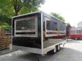 판매를 위한 이동할 수 있는 간이 식품 트럭 손수레는 주문을 받아서 만들어질 수 있다