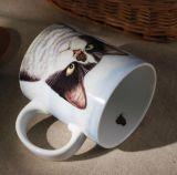 Taza de café de cerámica al por mayor con la cubierta y la tapa del silicón