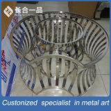 Fábrica de la fabricación de acero inoxidable redondo de plata Muebles Mesa