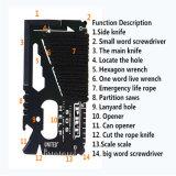 инструмент карточки ножа EDC Multi напольного выживания 16-in-1 швейцарский