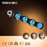 4 Contactdoos de Van uitstekende kwaliteit van de Uitbreiding van de Macht van de Fabrikanten van de manier met Havens USB
