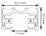 Piste en aluminium de profil de 2 fils pour la lumière de piste de DEL (XR-L210)