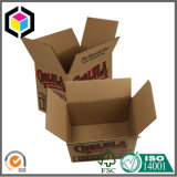 Rectángulo de empaquetado lleno de un sólo recinto del cartón del papel acanalado del traslapo