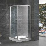 Cabine de luxe de pièce jointe de porte d'oscillation de douche de grand dos de coin en verre Tempered