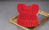 Hotsellingの冬習慣によって編まれるかわいい猫耳の帽子