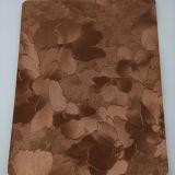 普及した印刷された不規則な形PUの装飾的な革