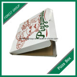 Venta al por mayor de empaquetado del rectángulo de papel de la pizza acanalada de la industria alimentaria