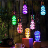 Las bombillas decorativas del diseño creativo único calientan 2200K amarillo 3W