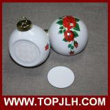 Ornamento de la bola de Navidad de impresión por transferencia por sublimación de fotos