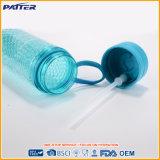 Doppel-wandiges kühlendes flüssiges Plastikcup mit Stroh