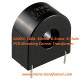 2000: 1 100A 50ohm PCB 0.5class die 9.5hole Huidige Transformator (ZMCT123) opzetten