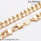 Catena lunga della collana dei 43660 di modo grande del metallo placcata oro della lega uomini dei monili