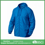 Light Blue Bell Man Jaqueta Windbreaker capuz