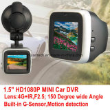"""2016 1.5 neufs """" véhicule DVR avec le G-Détecteur intrinsèque d'appareil-photo de véhicule de HD 1080P 5.0mega CMOS, vision nocturne DVR-1518"""
