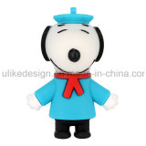 USB Flash Drive sombrero azul Snoopy PVC (UL-PVC017-02)