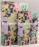 S/2 Ma Lilian Monroe Lienzo Diseño/madera MDF Cuadro de la libreta de almacenamiento de impresión