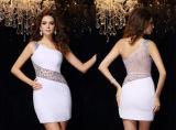 Стопор оболочки троса колонки One-Shoulder Сарафан валика клея шифон короткое мини платье