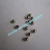 holle Parels van het Metaal van de Oppervlakte van de Kleur van de Grootte van 4.5mm de Zilveren Briljante