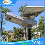 Tudo em uma luz de rua solar para a lâmpada do diodo emissor de luz 30W com bateria de Li