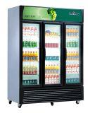 Ce una vetrina dritta del congelatore di frigorifero del portello di vetro di Pproved tre (LG1380A3)