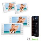 7 дюймов внутренной связи домашней обеспеченностью с телефоном двери напольной камеры 4 кнопок видео-