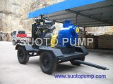 4 Wheels Trailer Diesel Engine Pump