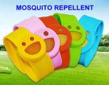 Braccialetto repellente dell'efficace di schiaffo zanzara esterna del silicone con la ricarica di sorriso