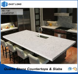 Controsoffitto all'ingrosso della pietra del quarzo per la decorazione domestica di superficie solida con gli standard dello SGS (colori di marmo)