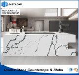 Bancadas de pedra de quartzo de engenharia para decoração/ cozinha equipada com a SGS Relatório (Calacatta)