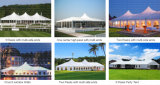 Пвх высокое пиковое смешанных палатку с бегущей строкой в банкетный зал на 100 человек местный гость