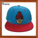 100% полиакрил Snapback Red Hat с поднятым вышивка