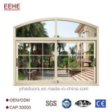 中国の健全な証拠が付いている二重ガラスアルミニウムスライディングウインドウ