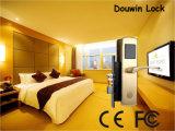 Douwinのホテルのドアロックブラシをかけられた真鍮MIFAREのカードタイプ
