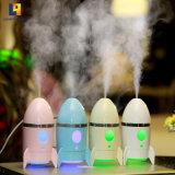 Home Use Ar Fresco Mist humidificador USB para Luz noturna de 7 cores