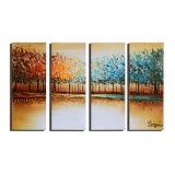 أصليّ حديثة طبيعة مشهد [أيل بينتينغ] زخرفيّة مع شجرة لأنّ بينيّة جدار فنية