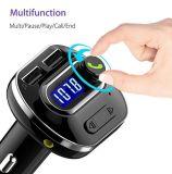 Il kit dell'automobile dell'adattatore della radio del trasmettitore di Bluetooth FM con il controllo di qualità rapido 3.0 della carica dell'ingresso/uscita aus. e 2.4A astuti si raddoppiano scheda di TF delle porte del USB