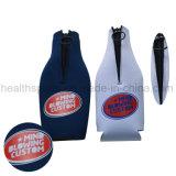 Kundenspezifischer Firmenzeichen-Neopren-Bier-Wein-Flaschen-Hülsen-Deckel mit Reißverschluss