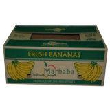 Design personalizado cartão impresso na caixa de bananas de papelão ondulado com alta qualidade