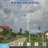 BaodeはSasoの証明書が付いている屋外の9m 70-80W LEDの太陽街灯をつける