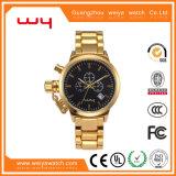 Таким образом дату Custom швейцарских мужчин золотые кварцевые часы на запястье (WY-033)