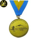 Medaille van de Sporten van het Ras van de Marathon van de Trofee van de Toekenning van het metaal 3D Gouden Lopende
