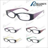 Cadre d'injection en plastique avec lunettes de lecture en bois (RP93205)