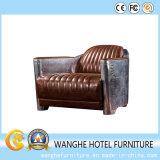 Il nuovo sofà creativo antico dell'ingresso della barra di stile ha impostato con la decorazione del metallo