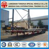 Vervoer 3 de Semi Aanhangwagen Lowbed van de As 60ton van het Graafwerktuig van de Kraan van het Kruippakje van de bulldozer