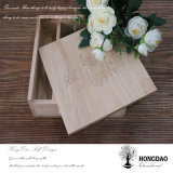 Caja de álbum de fotos de madera de Hongdao para la boda Gift_D