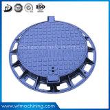 Moulage de fonte ductile plaque d'égout OEM ronde plaque d'égout pour l'allée de drainage de l'égout