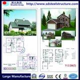 빠른 건축 Prefabricated 호화스러운 조립식 강철 별장